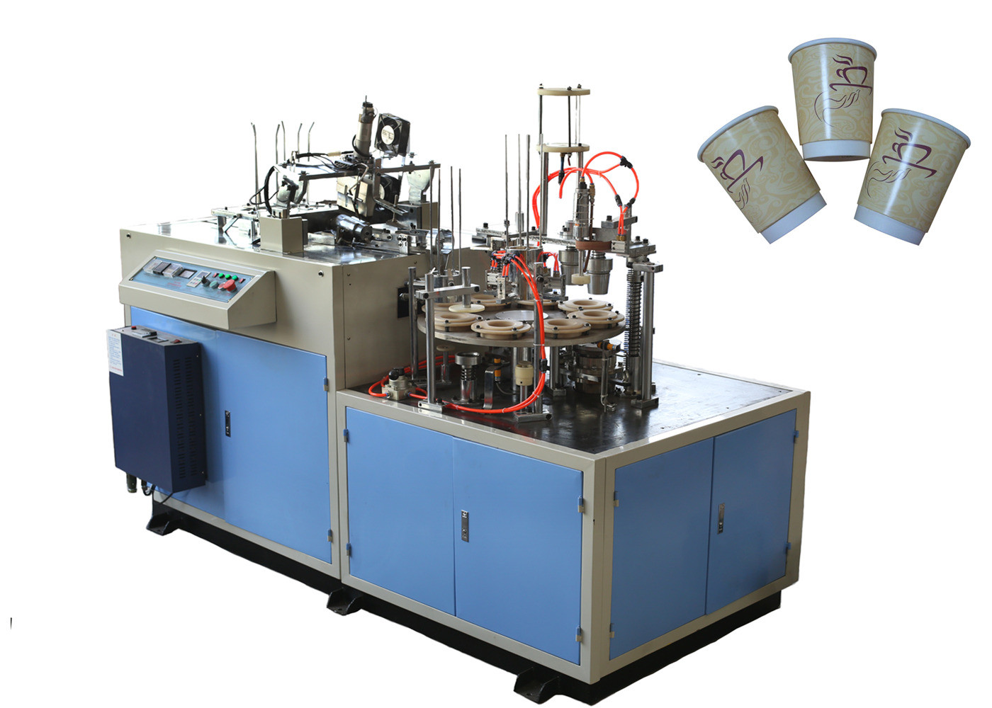 Efficient Green Laminated Paper Cup Sleeve Machine Low Noise Energy Saving