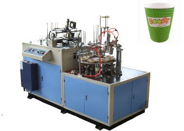 چین Hollow / Corrugated Double Wall Paper Cup Sleeve Forming Machine 24 Hours Stable Running توزیع کننده